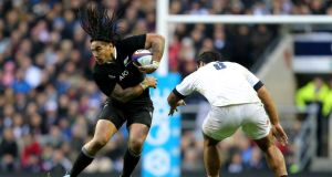 New Zealand's Ma'a Nonu eludes the tackle of England's Billy Vunipola at Twickenham on Saturday. Photograph: James Crombie/Inpho.