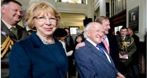 President  Michael D Higgins and his wife Sabina will attend state banquet with   Taoiseach Enda Kenny and prime minister David Cameron