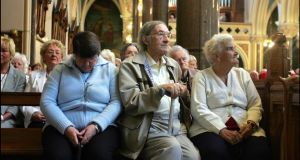 Parishioners in St Peter's Church, Drogheda, where the ecumenical service was held. Photograph: Brenda Fitzsimons