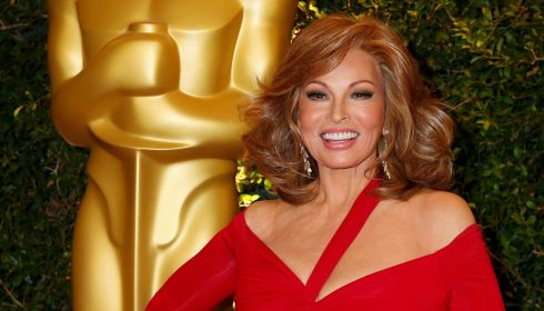 Veteran Raquel Welch looking sunny. Photograph: Fred Prouser/Reuters