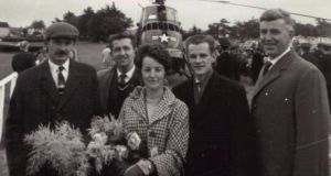 Mae Leonard with fellow members of Limerick Corporation staff, after President John F Kennedy had left Limerick.