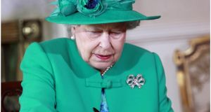 Queen Elizabeth during her State visit to Ireland in 2011: Sinn Féin was involved in street protests against the visit. Photograph: Brenda Fitzsimons / The Irish Times