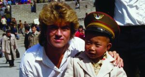 George Michael at the Great Wall of China during the Wham! years