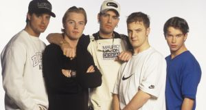 Boyzone, including Stephen Gately, circa 1996. Photograph: Tim Roney/Getty Images