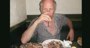 John Fleming clears his palate after eating crustaceans found on the sea floor