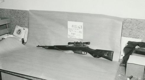 A photograph acquired from the Dallas Police Department/Dallas Municipal Archives John F. Kennedy Collection, shows a 6.5 mm Carcano Model 91/38 carbine rifle recovered from the Texas School Book Depository after the November 22nd, 1963 assassination of John F. Kennedy. Photograph: Dallas Police Department/Dallas Municipal Archives/University of North Texas/Handout via Reuters