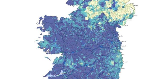 Show Map Of Ireland.All Island Interactive Census Map Shows North South Differences