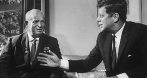Soviet Premier Nikita Krushchev meeting with Presidnet Kennedy