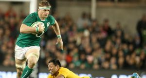 Jamie Heaslip and his team-mates hope the problems shown against Australia are 'fixable'. Photograph: Dan Sheridan/Inpho