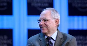 German finance minister Wolfgang Schäuble said  resorting to debt sharing would ultimately lead to Europe's demise. Photograph: Chris Ratcliffe/Bloomberg