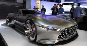 Mercedes Benz's concept vehicle MG AMG Vision Grand Tourism - a striking eyeful at the LA show