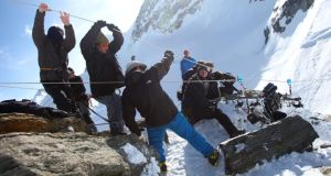 Freeze frame: filming The Summit in the Himalayas
