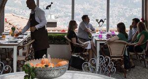 Restaurant Kibe with panoramic views of Sarajevo