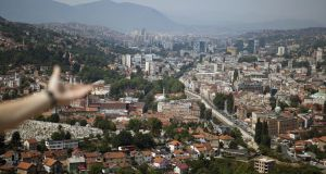 Sarajevo from a spot overlooking the city. Photographs: Djamila Grossman for The New York Times