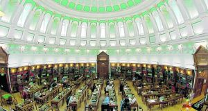 Reading room at the National Library of Ireland
