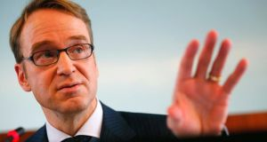 Jens Weidmann: the president of the  Bundesbank played down his interest rate row with ECB president Mario Draghi