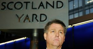 Detective Inspector Kevin Hyland speaks to the press outside New Scotland Yard in London yesterday.