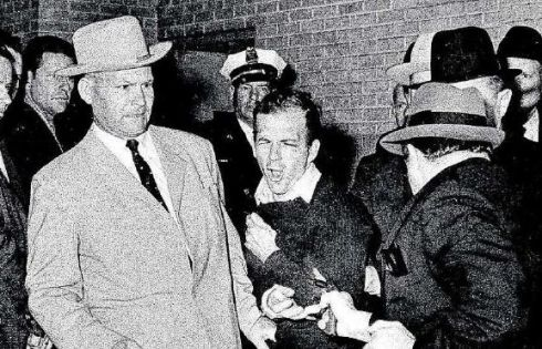 Lee Harvey Oswald is shot dead at point blank range by nightclub owner Jack Ruby in Dallas on November 24th, 1963. Photograph: Bob Jackson/AP/Dallas Times-Herald