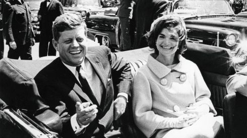 The presidential couple photographed in Washington on May 3rd, 1961. Photograph: John F Kennedy Presidential Library/New York Times
