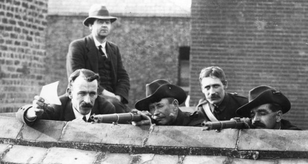 Rifle range: National Volunteers practise in Dublin in 1914. Photograph: Central Press/Getty