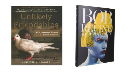 'Unlikely Friendships', by Jennifer Holland, €15, Urban Outfitters, (Workman publishing) 'Bob Recine: Alchemy of Beauty', £40, (Damiani)