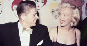 Ronald Reagan: old enough to have known Marilyn Monroe, but was he old enough to have known Thomas Jefferson? Photograph: AP