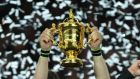 The Webb Ellis trophy: will it be won on Irish soil in 2023? Photograph: Dave Lintott/INPHO