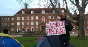 Groundswell of opposition:  anti-fracking activist. Photograph: Frack Free Sussex/PA Wire
