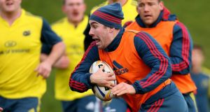 Munster's JJ Hanrahan has a big chance to stake his claim. Photograph: James Crombie/Inpho
