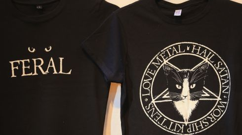 Some of the crazier cat-related merchandise on display. Photograph: Matt Cardy/Getty Images