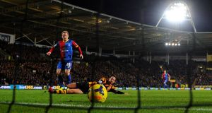 Barry Bannan scores the only goal of the game at the KC Stadium. Photograh: Michael Regan/Getty Images
