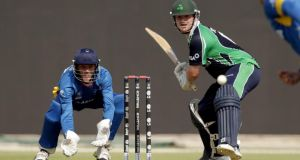 Paul Stirling hit 77 from 46 balls and took four wickets as Ireland beat Hong Kong by 85 runs to qualify for the World T20 finals in Bangladesh. Photograph:  2013 IDI/Getty Images