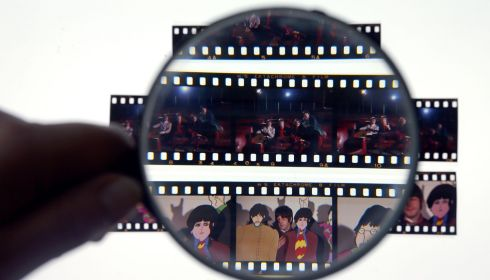 Part of a collection of unseen images of The Beatles which will be auctioned on Friday.  Photograph: Dave Thompson/PA