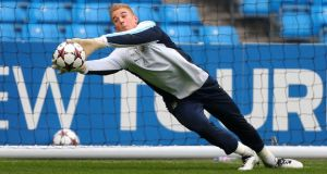 Manchester City's Joe Hart is not going anywhere, according to manager Manuel Pellegrini.   Photograph: Dave Thompson/PA Wire