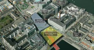 The car park below Grand Canal Square in Dublin's docklands will provide an immediate income return of 4.48 per cent