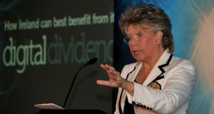 EU justice commissioner Viviane Reding said she expects to see legislative change in place in the US sooner rather than later. Photograph: Matt Kavanagh/The Irish Times