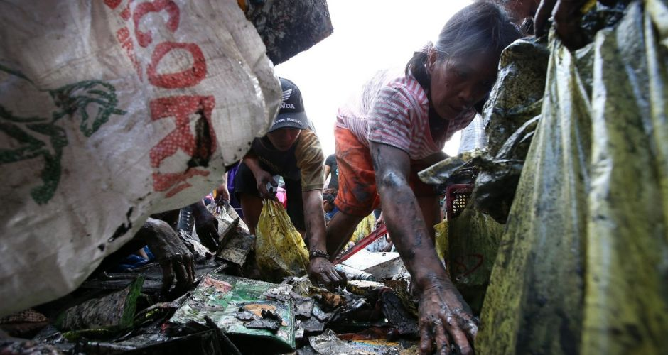 Clean up continues in the Philippines