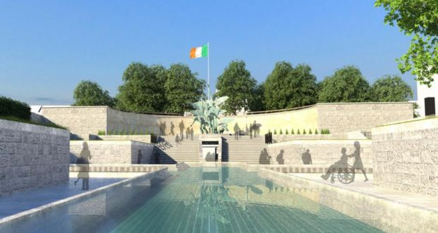 The planned Journey of Light memorial at the Garden of Remembrance in Parnell Square