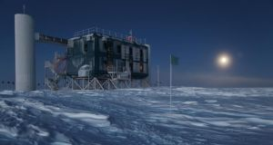 The IceCube Neutrino Observatory, the world's largest neutrino detector, at the Amundsen-Scott South Pole Station in Antarctica. Photograph: Sven Lidstrom, IceCube/NSF via The New York Times