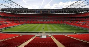 Ireland's second Rugby World Cup 2015 pool game, against the Europe 2 qualifiers, will be at the 90-000 capacity Wembley Stadium. Photograph: Getty Images)