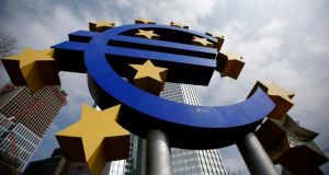 The ECB said  the risks to the eurozone's financial system from outside the currency bloc had grown since May. Photograph: Reuters/Lisi Niesner