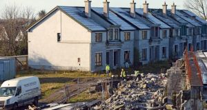 Unfinished houses in a ghost estate, at Glenatore Homes in Athlone. Photograph:  Eric Luke/The Irish Times