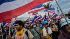 Anti-government protesters take part in a march at parliament  today in Bangkok, Thailand. Photograph: Lam Yik Fei/Getty Images
