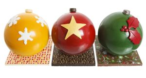 Giant marshmallow-filled baubles from Cocoa Atelier, €17.95