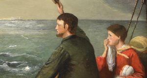 The Emigrants' Last Farewell (€1,000-€1,500) by Alfred Grey
