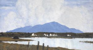 The Lake by Paul Henry sold for €93,000 (€80,000-€100,000) at Whyte's Important Irish Art Auction