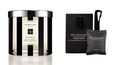 Blue Spruce candle, €150, Jo Malone at Brown Thomas Small but powerful 'Dodici' rosemary, lemon and lavender scented sachet, €10.95, Max Benjamin