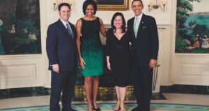 Cathal Armstrong and his wife with Barack and Michelle Obama