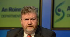 Dr James Reilly: on the back foot after a disastrous outcome for his department in the budget. Photograph: Cyril Byrne