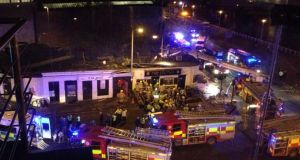 The helicopter crash at the Clutha Bar in Glasgow.